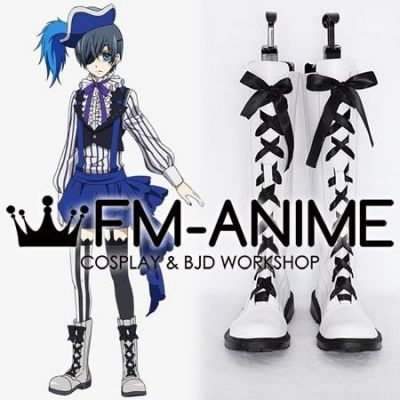 Black Butler Ciel Phantomhive Noah's Ark Circus Cosplay Shoes Boots