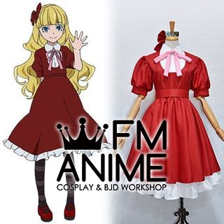Bungo Stray Dogs Elise Red Dress Cosplay Costume