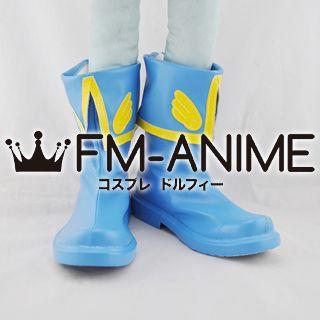 Cardcaptor Sakura Movie 2: The Sealed Card Syaoran Li Cosplay Shoes Boots (Blue)