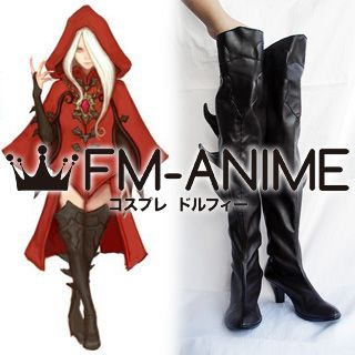 Dragon Nest Argenta Cosplay Shoes Boots (Dark Brown)