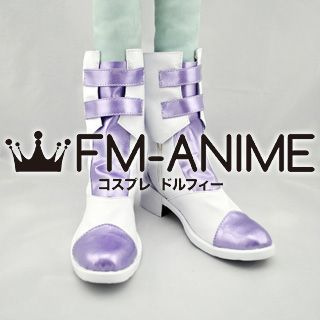 Final Fantasy XIII-2 Serah Farron Cosplay Shoes Boots (Light Purple)