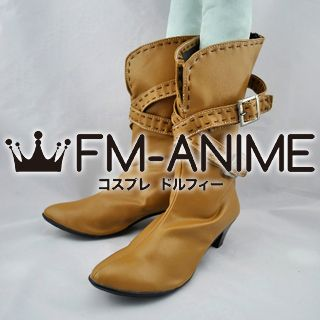 Chrome Shelled Regios Leerin Marfes Cosplay Shoes Boots