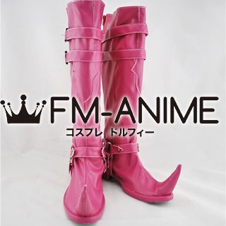 Blue Exorcist Mephisto Pheles Cosplay Shoes Boots (Pink)