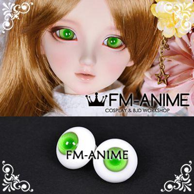 16mm Green Spiral & Dark Green Pupil BJD Dolls Glass Eyes Eyeballs Accessories