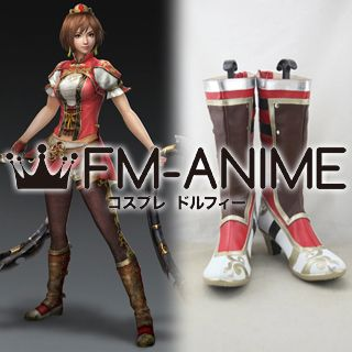 Dynasty Warriors 8 Sun Shangxiang / Son Shoukou Cosplay Shoes Boots