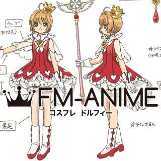 Cardcaptor Sakura: Clear Card Sakura Kinomoto OP2 Red Hearts Outfit Cosplay Costume