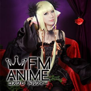Chobits Chii Black Lolita Dress Cosplay Costume (From Postcard Book)
