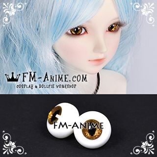 14mm / 18mm Shiny Golden Color & Black Cat Eyes Pupil BJD Dolls Glass Eyes Eyeballs Accessories