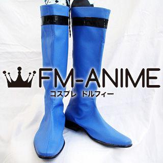 Super Sentai Series Samurai Sentai Shinkenger Ryunosuke Ikenami / Shinken Blue Cosplay Shoes Boots