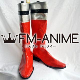 Super Sentai Series Tokusou Sentai Dekaranger Ban / Deka Red Cosplay Shoes Boots
