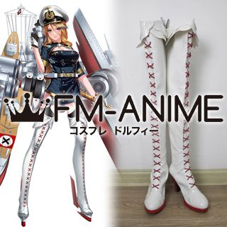 Warship Girls Scharnhorst Cosplay Shoes Boots