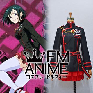 D.Gray-man Hallow Lenalee Lee The Black Order Red & Black Military Uniform Cosplay Costume