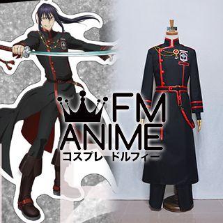 D.Gray-man Hallow Yu Kanda The Black Order Red & Black Military Uniform Cosplay Costume