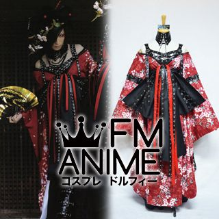 D (Japanese Band) Asagi Ouka saki some ni keri (桜花咲きそめにけり) Visual Styled Kimono Cosplay Costume