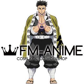 Demon Slayer: Kimetsu no Yaiba Gyomei Himejima Kimono Military Uniform Cosplay Costume