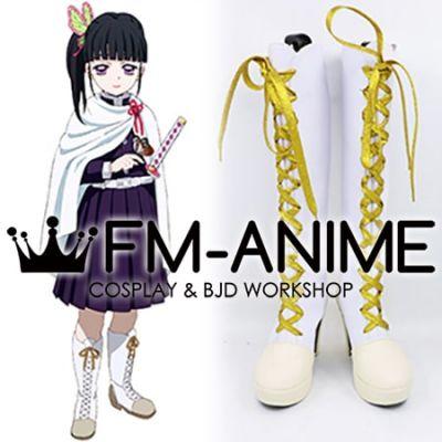 Demon Slayer: Kimetsu no Yaiba Kanao Tsuyuri Kimono Military Uniform Cosplay Shoes Boots