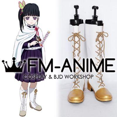 Demon Slayer: Kimetsu no Yaiba Kanao Tsuyuri Kimono Military Uniform Gold Cosplay Shoes Boots