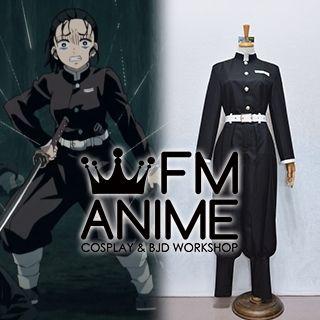 Demon Slayer: Kimetsu no Yaiba Tanjiro Zenitsu Kisatsutai Black Military Uniform Cosplay Costume (Female L)