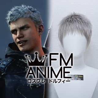 Devil May Cry 5 Nero Silver Gray Cosplay Wig