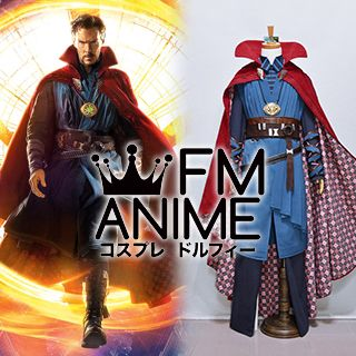 Doctor Strange (Marvel 2016 Film) Stephen Strange Cosplay Costume with Necklace