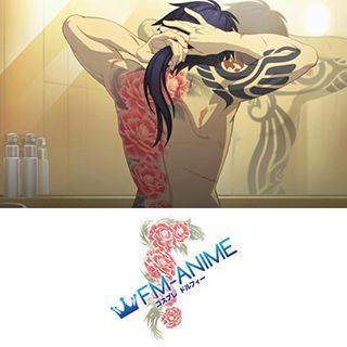 DRAMAtical Murder Koujaku Flower Cosplay Tattoo Stickers