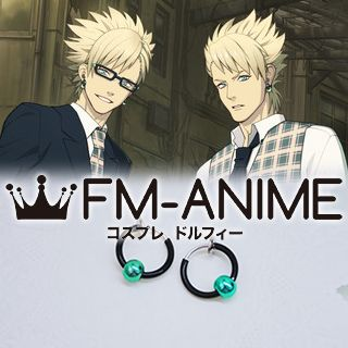 DRAMAtical Murder Virus & Trip Black & Green Clip-on Earrings Cosplay Accessories