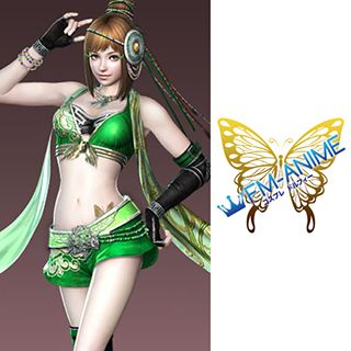 Dynasty Warriors 7 Bao Sanniang Butterfly Cosplay Tattoo Stickers