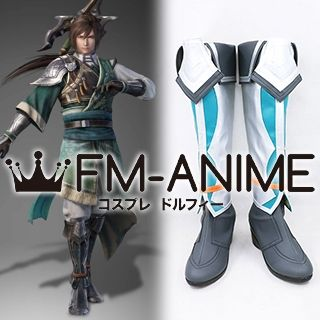 Dynasty Warriors 9 Jiang Wei Cosplay Shoes Boots