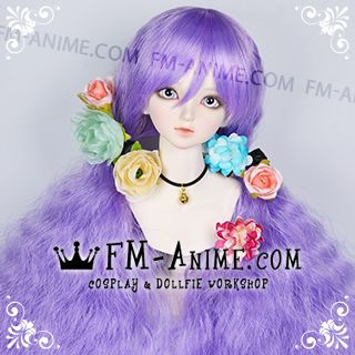 Long Mermaid Curly Hairstyle Purple Orchid BJD Dolls Wig