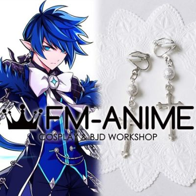 Elsword Ciel as Royal Guard Silver Cross Earrings Cosplay Accessory