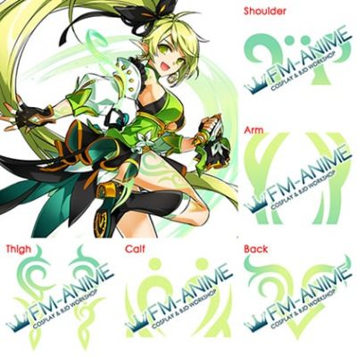 Elsword Rena Erindel Anemos Cosplay Tattoo Stickers