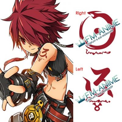 Elsword Rune Slayer Cosplay Tattoo Stickers
