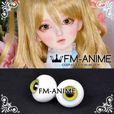 16mm Blue Orange Yellow Stripe & Black Pupil BJD Dolls Glass Eyes Eyeballs Accessories