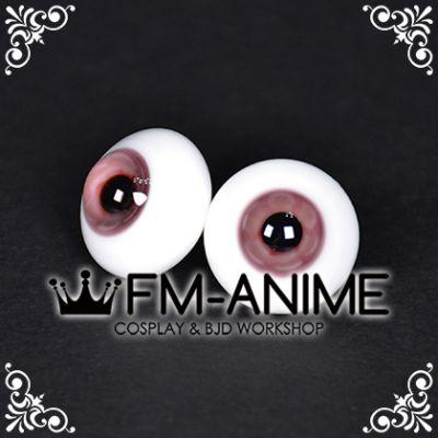 20mm Pale Red Violet Flower & Black Pupil BJD Dolls Glass Eyes Eyeballs Accessories