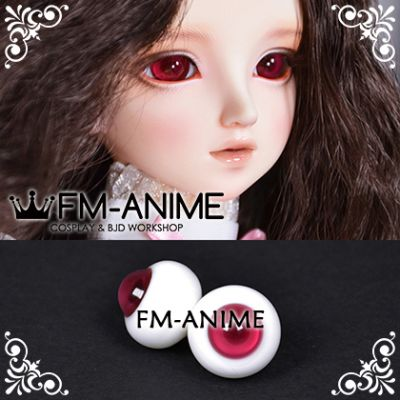 16mm Wine Red & Dark Red Pupil BJD Dolls Glass Eyes Eyeballs Accessories