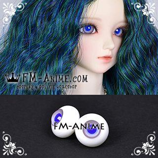14mm / 16mm Grayish Purple & Blue Pupil BJD Dolls Glass Eyes Eyeballs Accessories