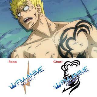 Fairy Tail Laxus Dreyar Cosplay Tattoo Stickers