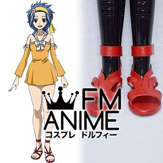 Fairy Tail Levy McGarden Cosplay Shoes Sandals