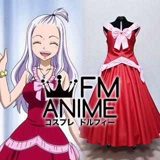 Fairy Tail Mirajane Strauss Red Dress Cosplay Costume