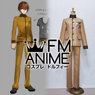 Fate/Extra Hakuno Kishinami Male Protagonist School Uniform Cosplay Costume (XXL)