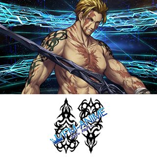 Fate/Grand Order Beowulf Cosplay Tattoo Stickers