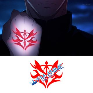 Fate/Zero Kayneth Archibald & Sola-Ui Nuaba-Re Sophia-Ri Command Seals Cosplay Tattoo Stickers