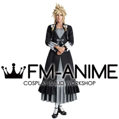 Final Fantasy VII Remake FFVII R Cloud Strife Black Ball Dress Cosplay Costume