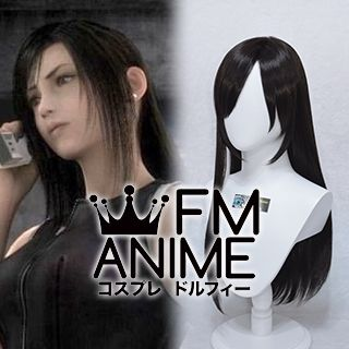 Final Fantasy VII: Advent Children Tifa Lockhart Black Cosplay Wig