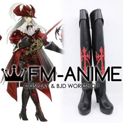 Final Fantasy XIV Red Mage Cosplay Shoes Boots