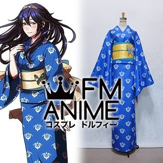 Fire Emblem Awakening Lucina DLC Blue Kimono Cosplay Costume