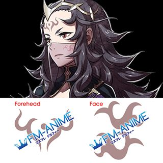 Fire Emblem Fates Nyx Cosplay Tattoo Stickers