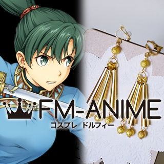 Fire Emblem Heroes Lyn Gold Earrings Cosplay Accessory