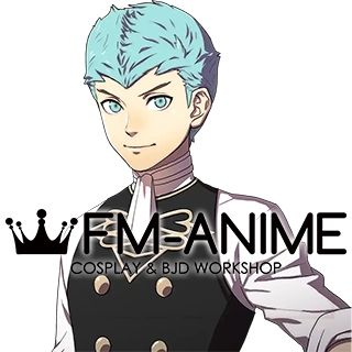 Fire Emblem: Three Houses Caspar Blue Cosplay Wig