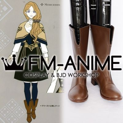 Fire Emblem: Three Houses Mercedes von Martritz Meche Military Uniform Cosplay Shoes Boots